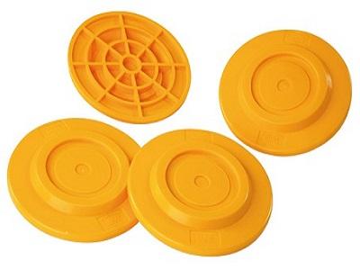 Fiamma plates geel